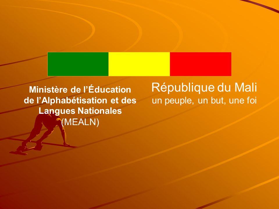 République du Mali un peuple, un but, une foi