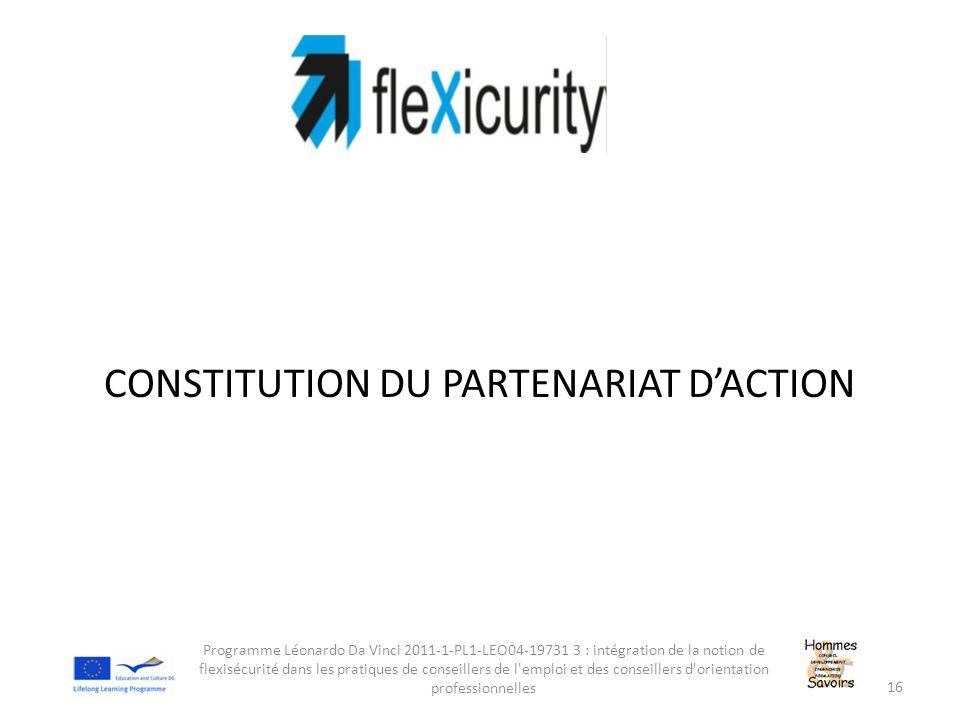 CONSTITUTION DU PARTENARIAT D'ACTION
