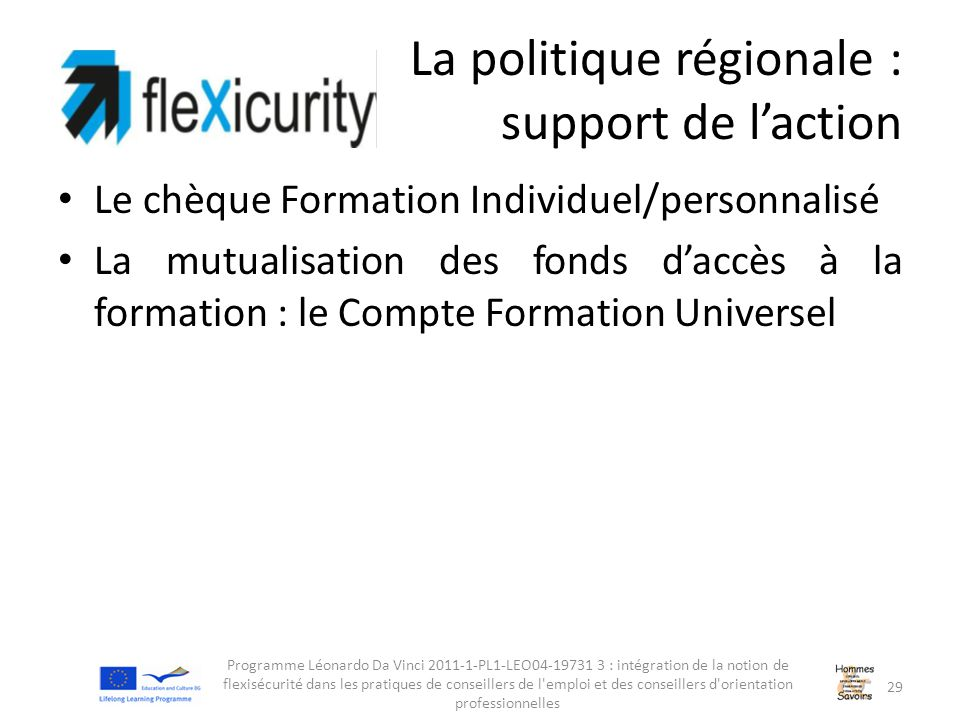La politique régionale : support de l'action