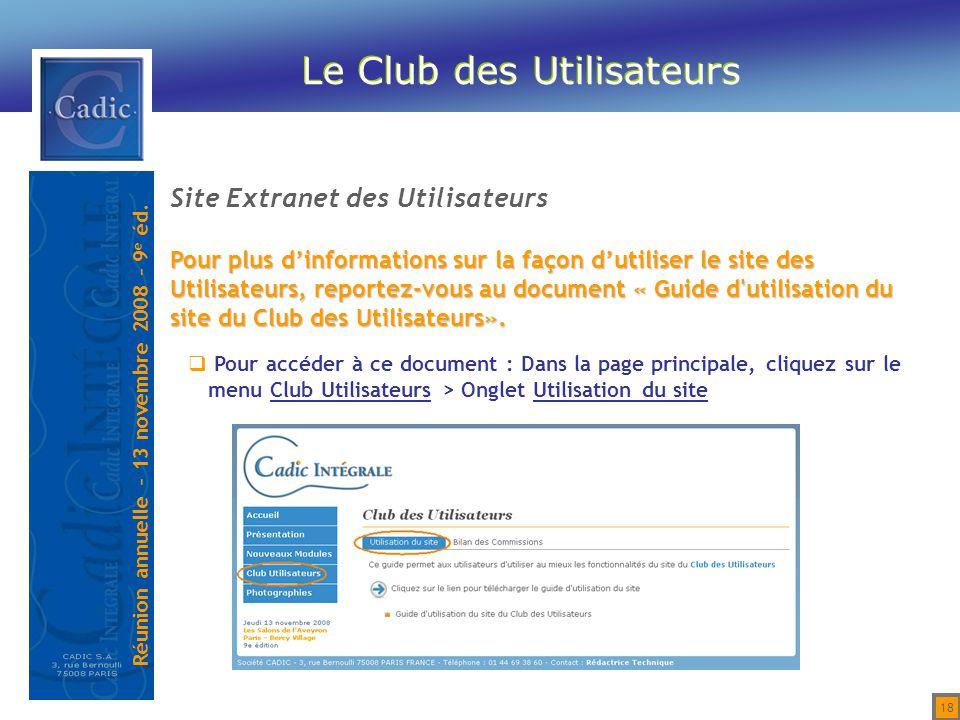 Le Club des Utilisateurs