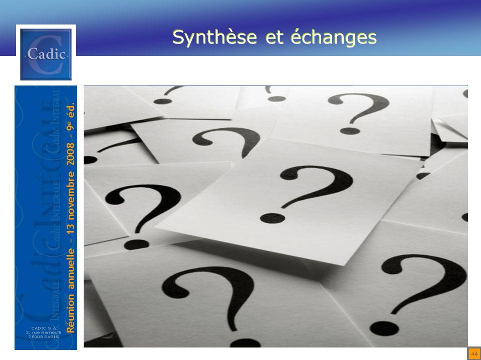 Synthèse et échanges 44