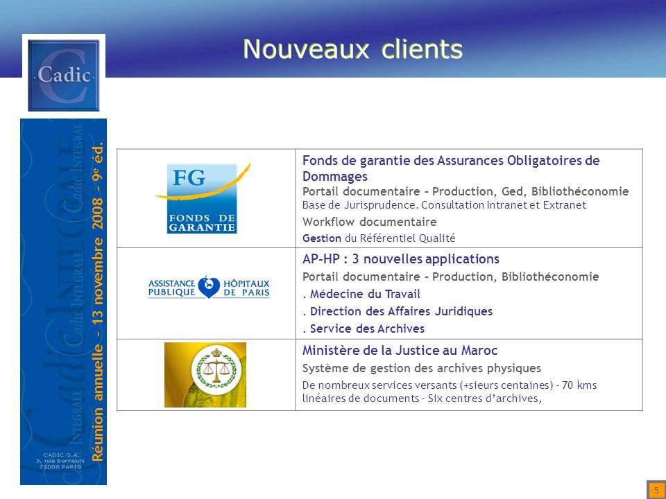 Nouveaux clients Fonds de garantie des Assurances Obligatoires de Dommages. Portail documentaire – Production, Ged, Bibliothéconomie.