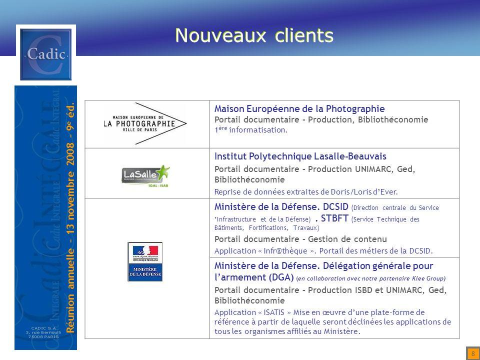 Nouveaux clients Maison Européenne de la Photographie
