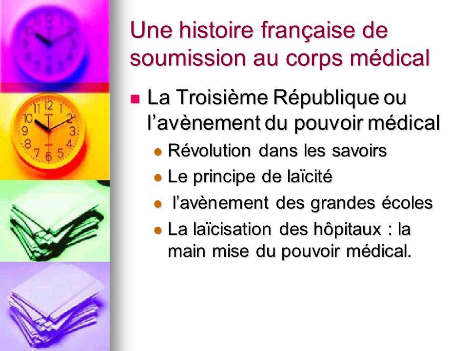 Une histoire française de soumission au corps médical