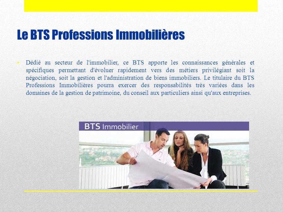 Le BTS Professions Immobilières