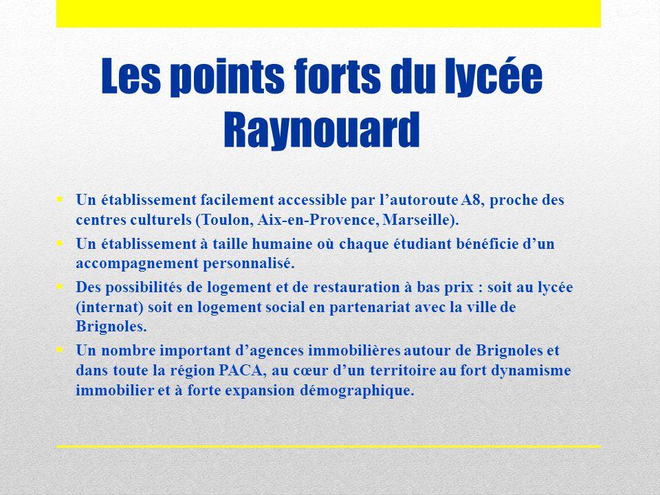 Les points forts du lycée Raynouard