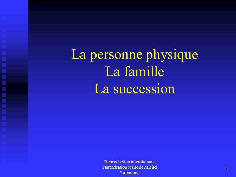 La personne physique La famille La succession
