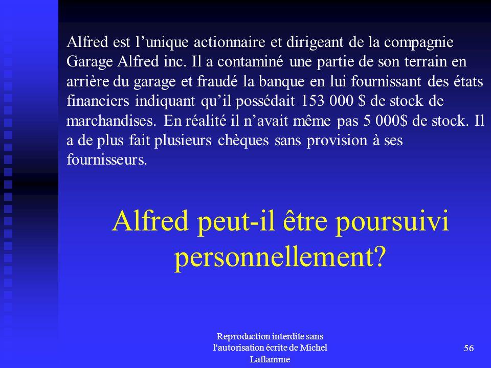 Alfred peut-il être poursuivi personnellement