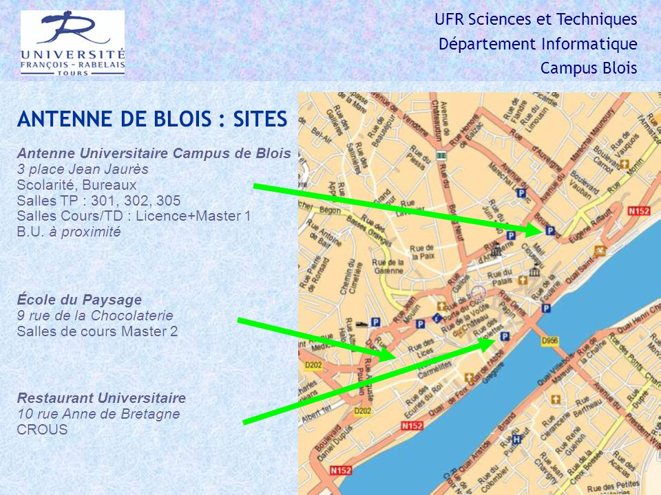 ANTENNE DE BLOIS : SITES