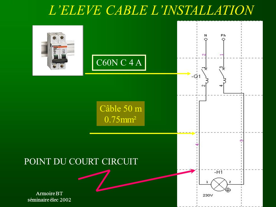 L'ELEVE CABLE L'INSTALLATION