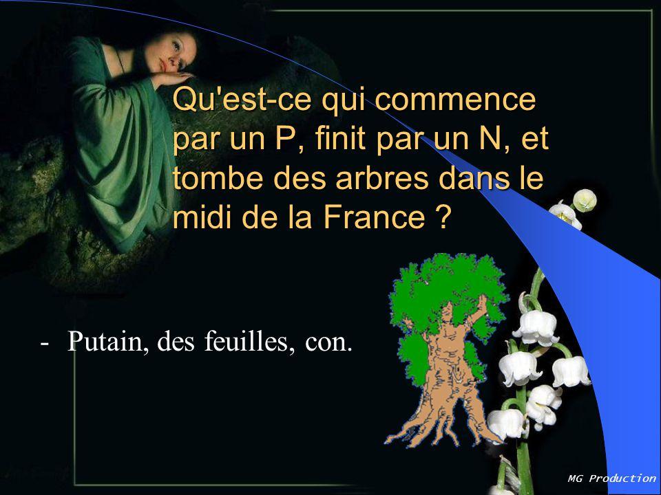 Qu est-ce qui commence par un P, finit par un N, et tombe des arbres dans le midi de la France