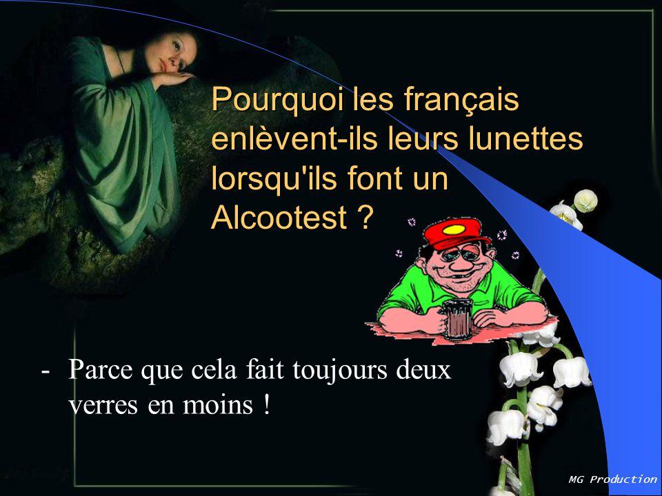 Pourquoi les français enlèvent-ils leurs lunettes lorsqu ils font un Alcootest