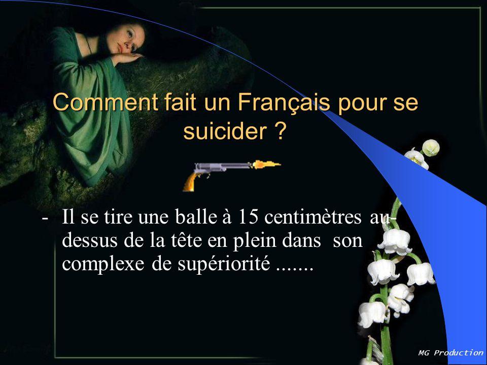 Comment fait un Français pour se suicider