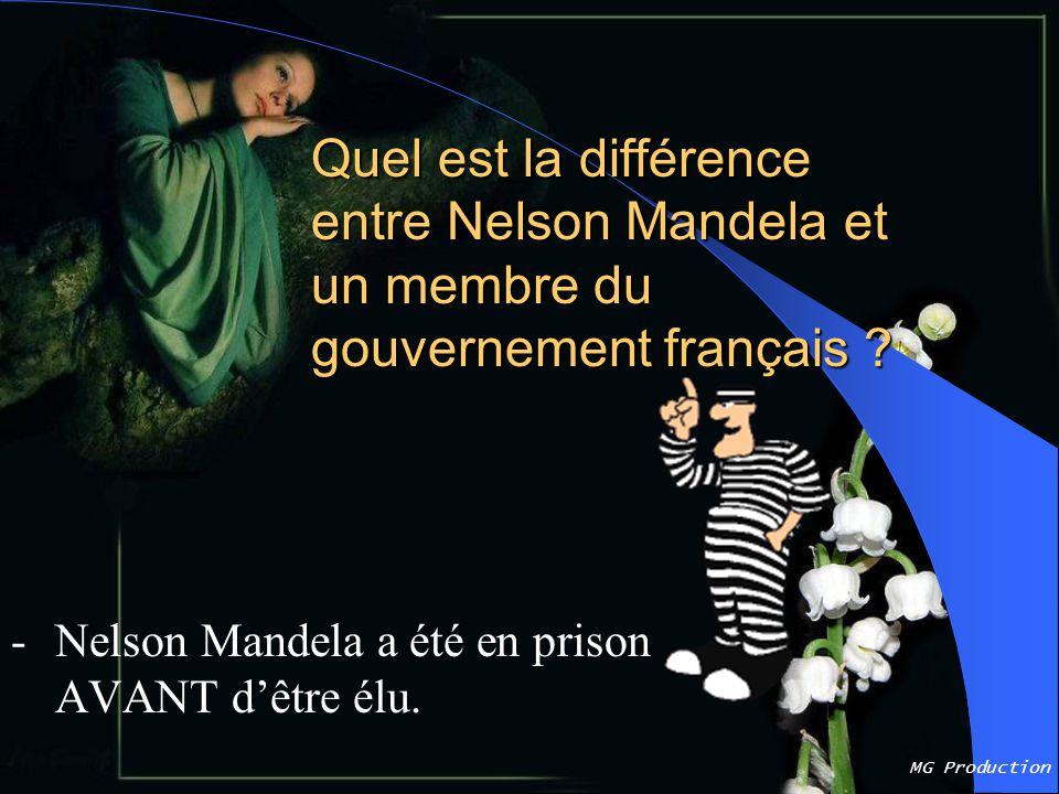 Quel est la différence entre Nelson Mandela et un membre du gouvernement français