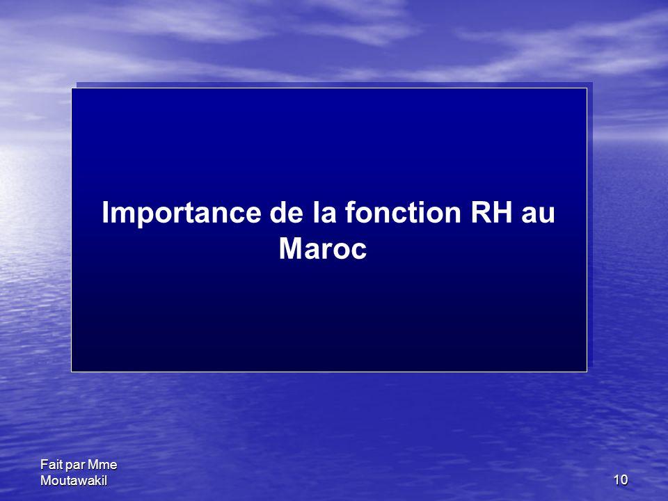 Importance de la fonction RH au