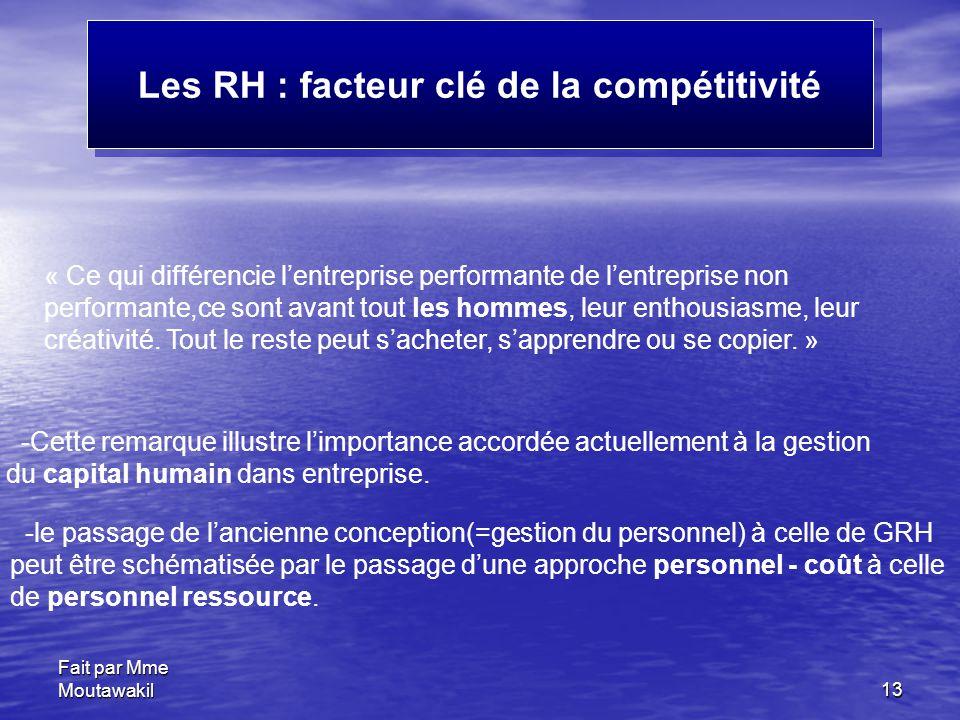 Les RH : facteur clé de la compétitivité