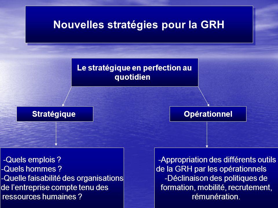 Nouvelles stratégies pour la GRH Le stratégique en perfection au