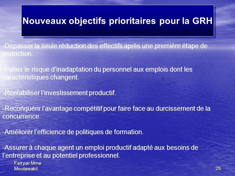 Nouveaux objectifs prioritaires pour la GRH