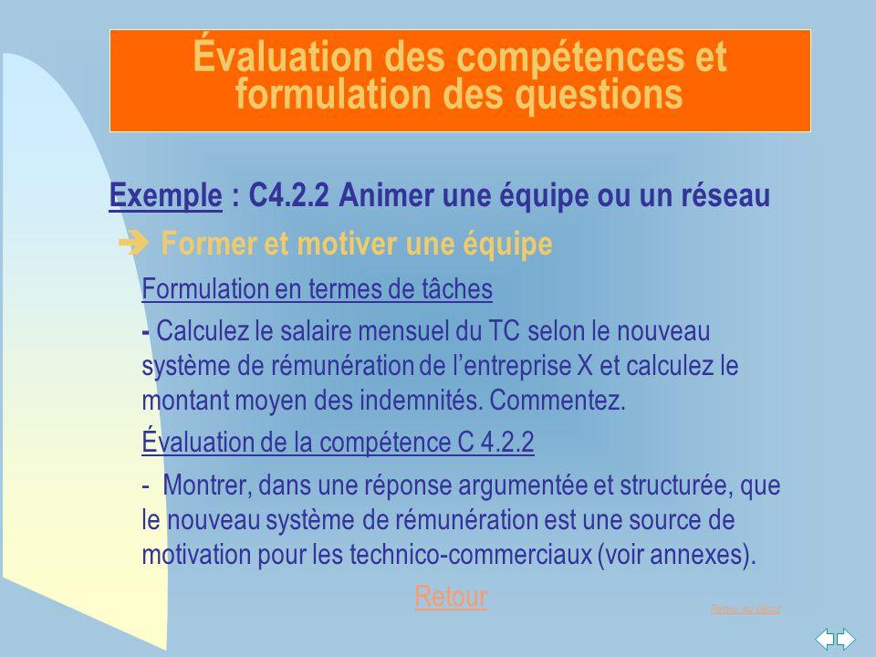Évaluation des compétences et formulation des questions