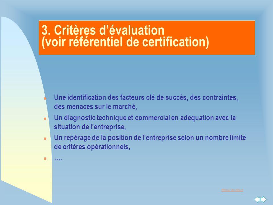 3. Critères d'évaluation (voir référentiel de certification)