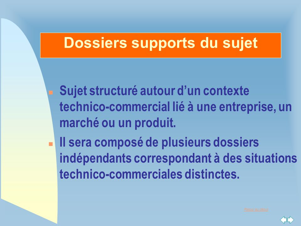 Dossiers supports du sujet