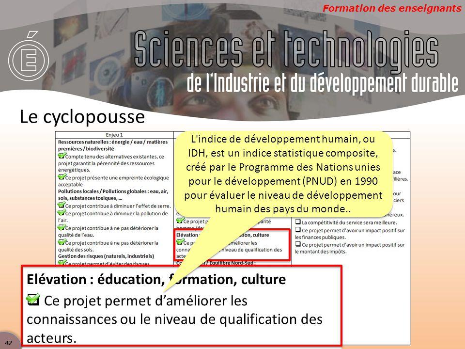 Le cyclopousse Elévation : éducation, formation, culture