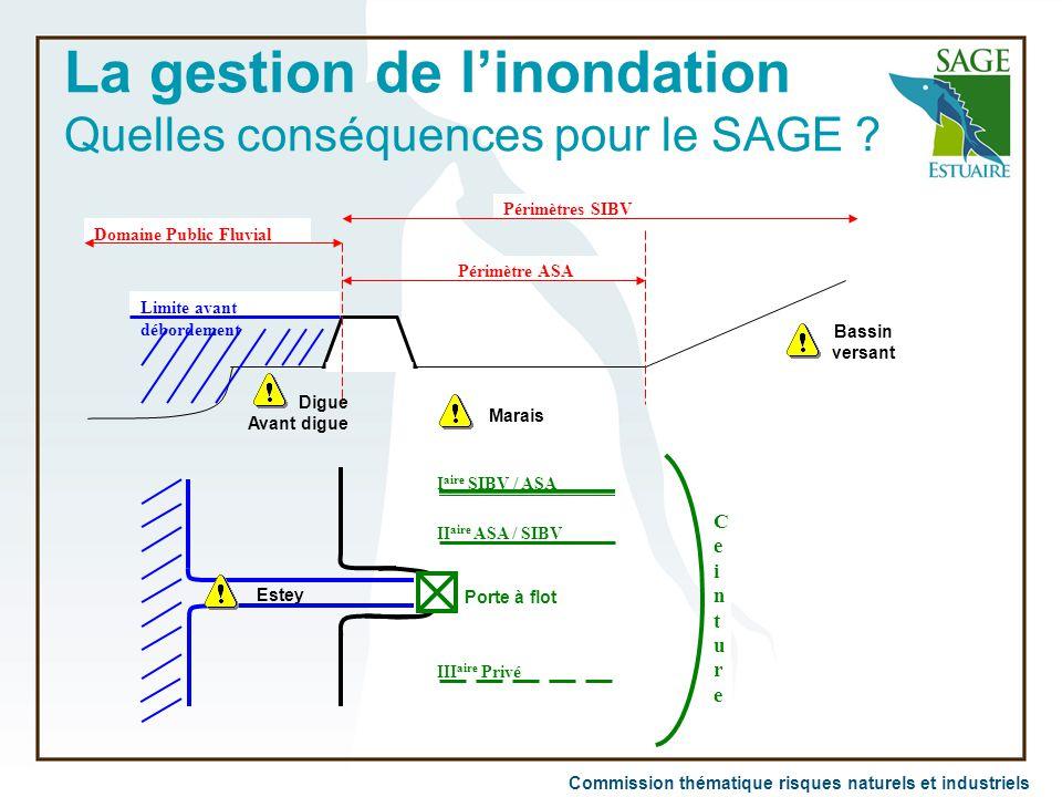 La gestion de l'inondation Quelles conséquences pour le SAGE