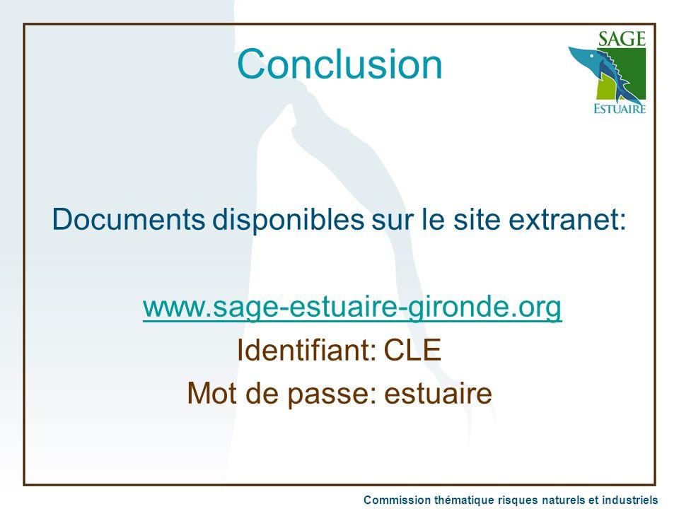 Documents disponibles sur le site extranet: