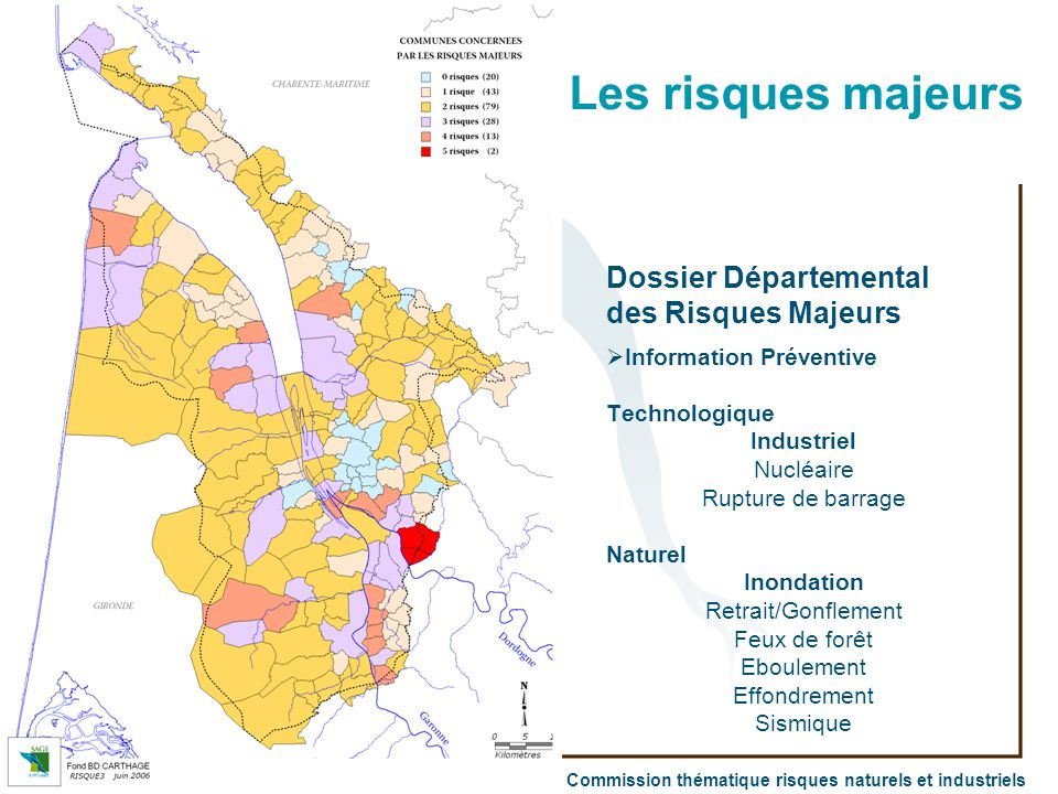 Les risques majeurs Dossier Départemental des Risques Majeurs