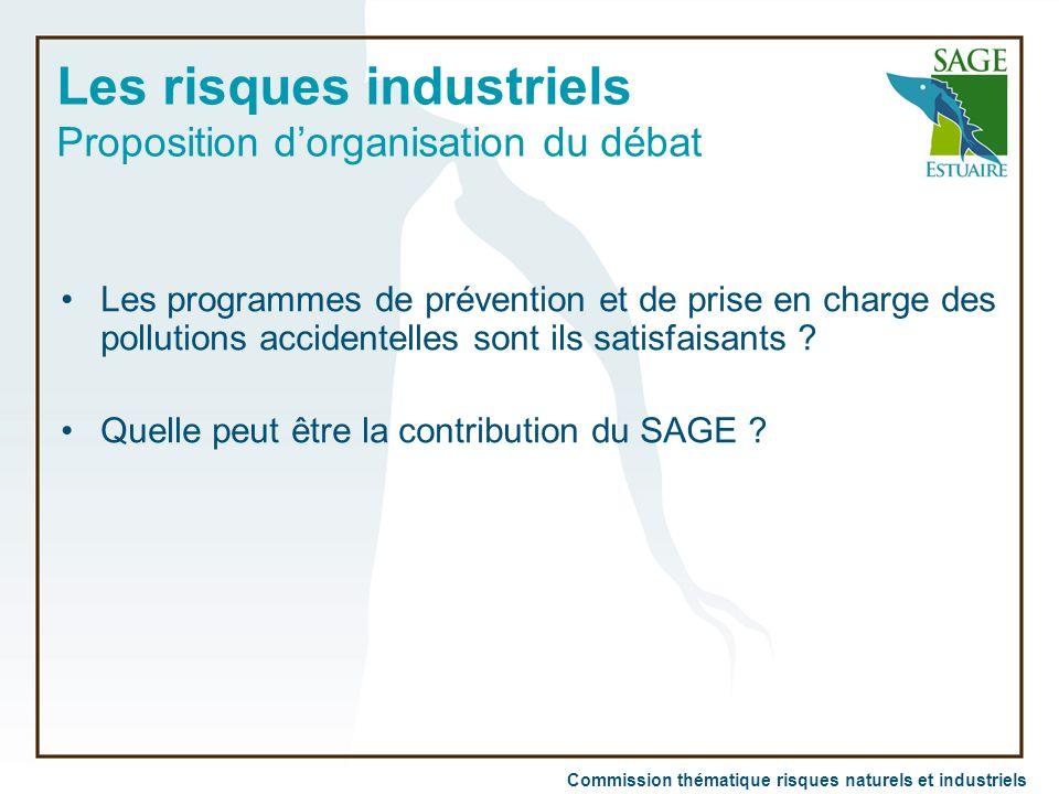 Les risques industriels Proposition d'organisation du débat