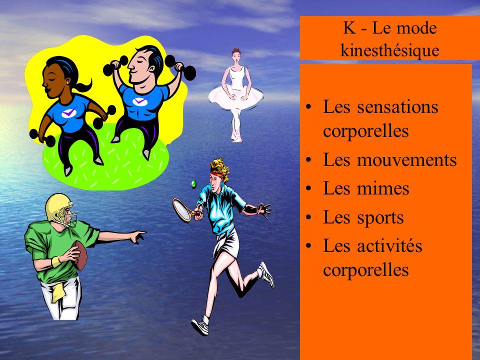 K - Le mode kinesthésique