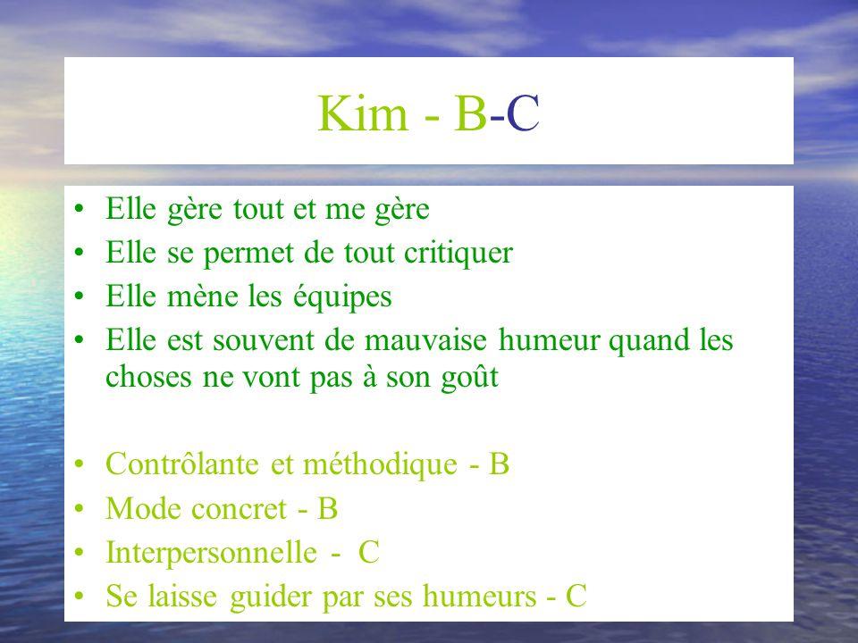 Kim - B-C Elle gère tout et me gère Elle se permet de tout critiquer