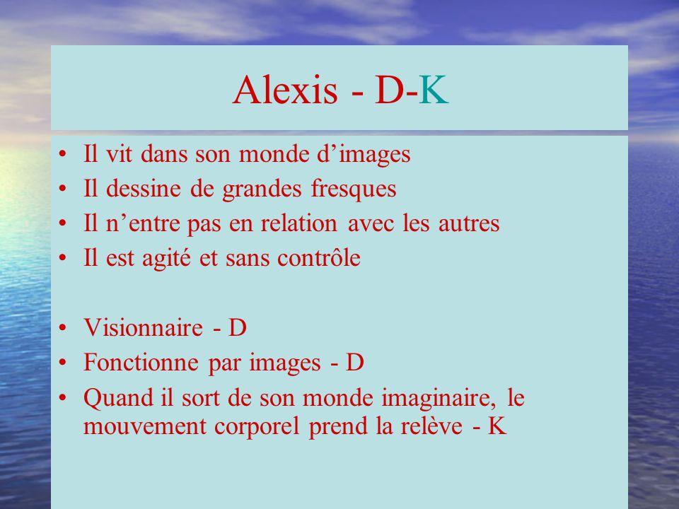 Alexis - D-K Il vit dans son monde d'images
