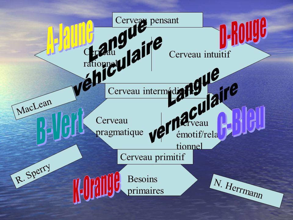 Langue D-Rouge véhiculaire A-Jaune Langue vernaculaire C-Bleu B-Vert