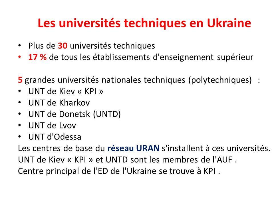 Les universités techniques en Ukraine