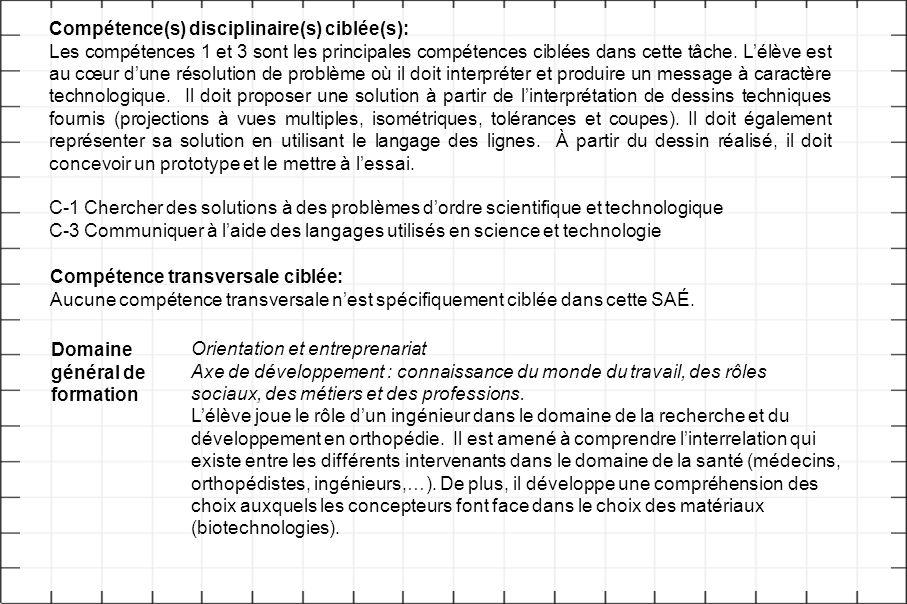 Compétence(s) disciplinaire(s) ciblée(s):