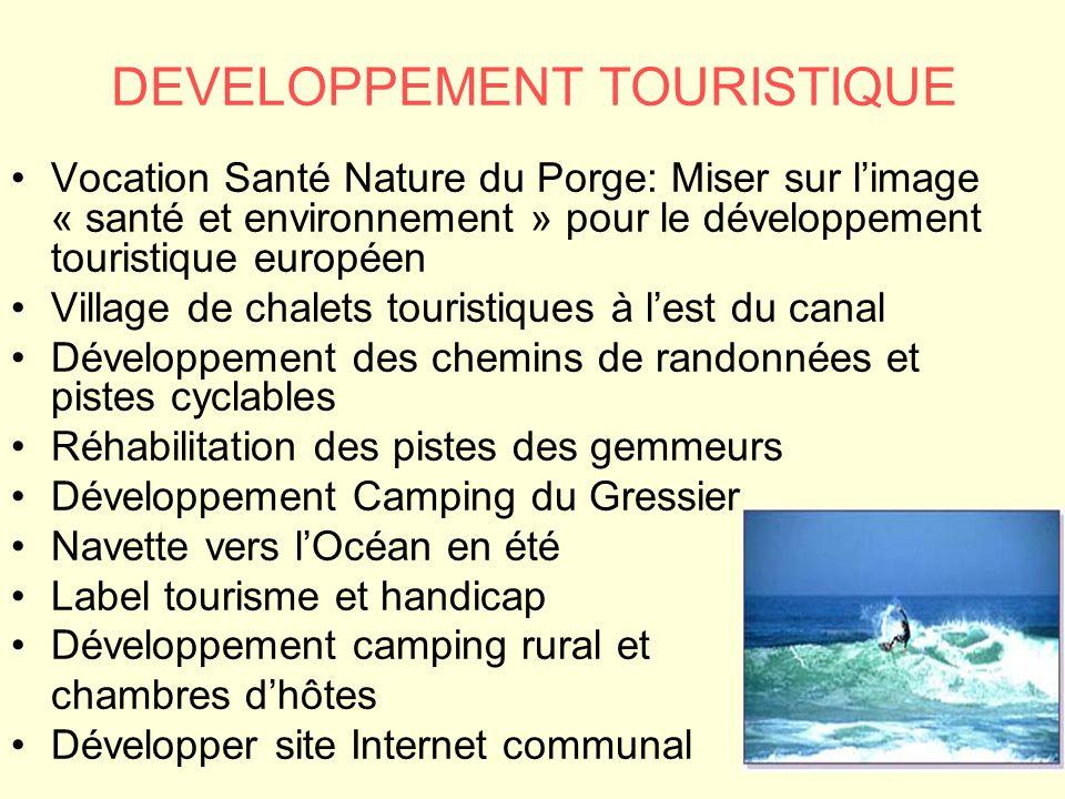 DEVELOPPEMENT TOURISTIQUE