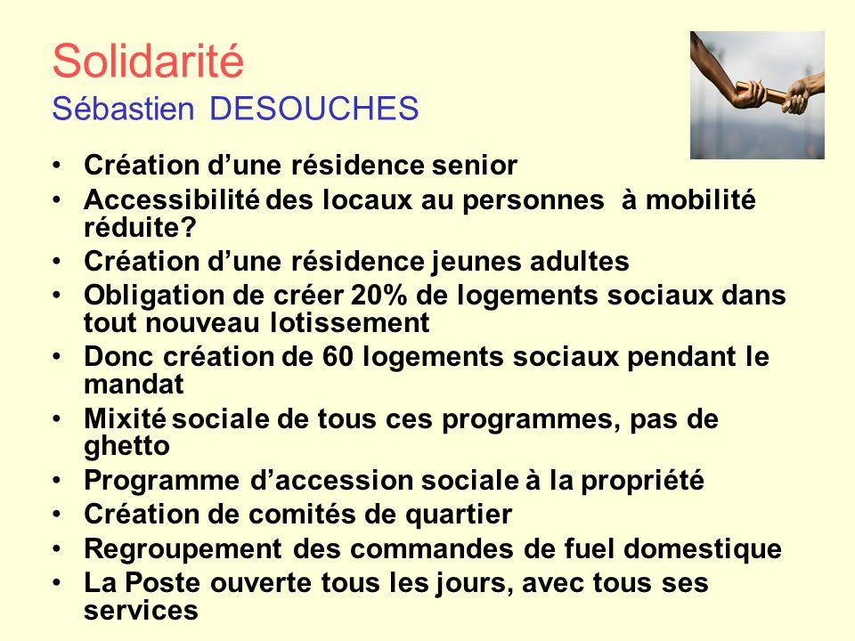 Solidarité Sébastien DESOUCHES