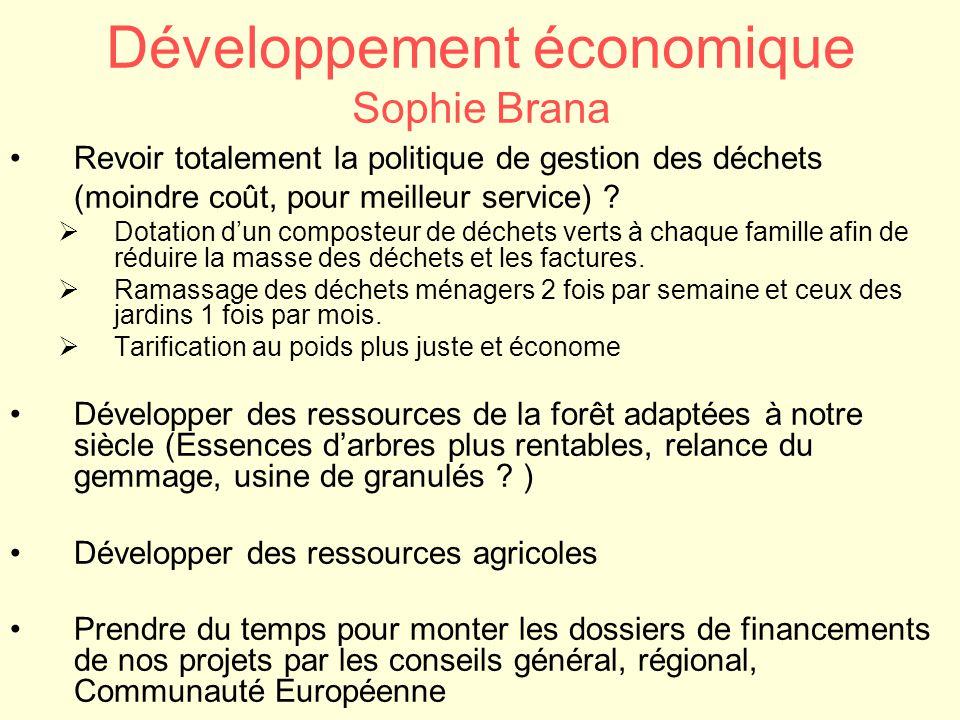 Développement économique Sophie Brana