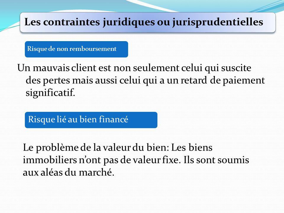 Les contraintes juridiques ou jurisprudentielles