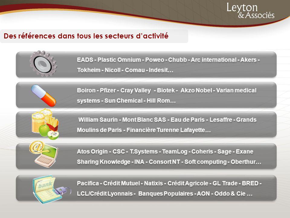 Des références dans tous les secteurs d'activité