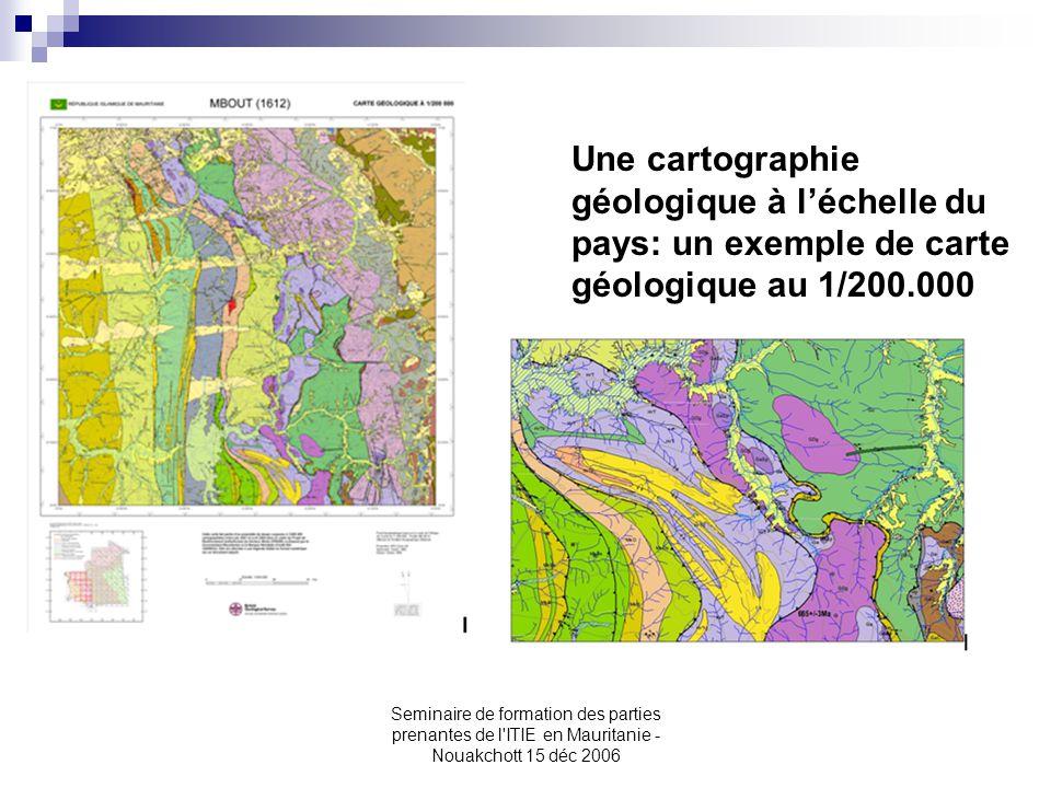 Une cartographie géologique à l'échelle du pays: un exemple de carte géologique au 1/200.000