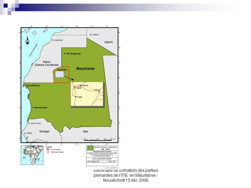Seminaire de formation des parties prenantes de l ITIE en Mauritanie - Nouakchott 15 déc 2006