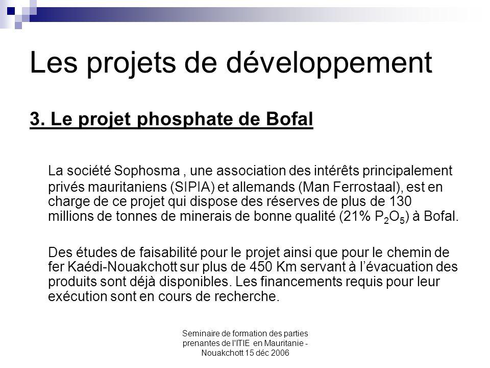 Les projets de développement
