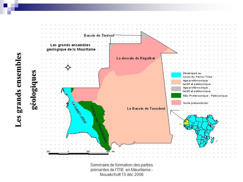 Les grands ensembles géologiques