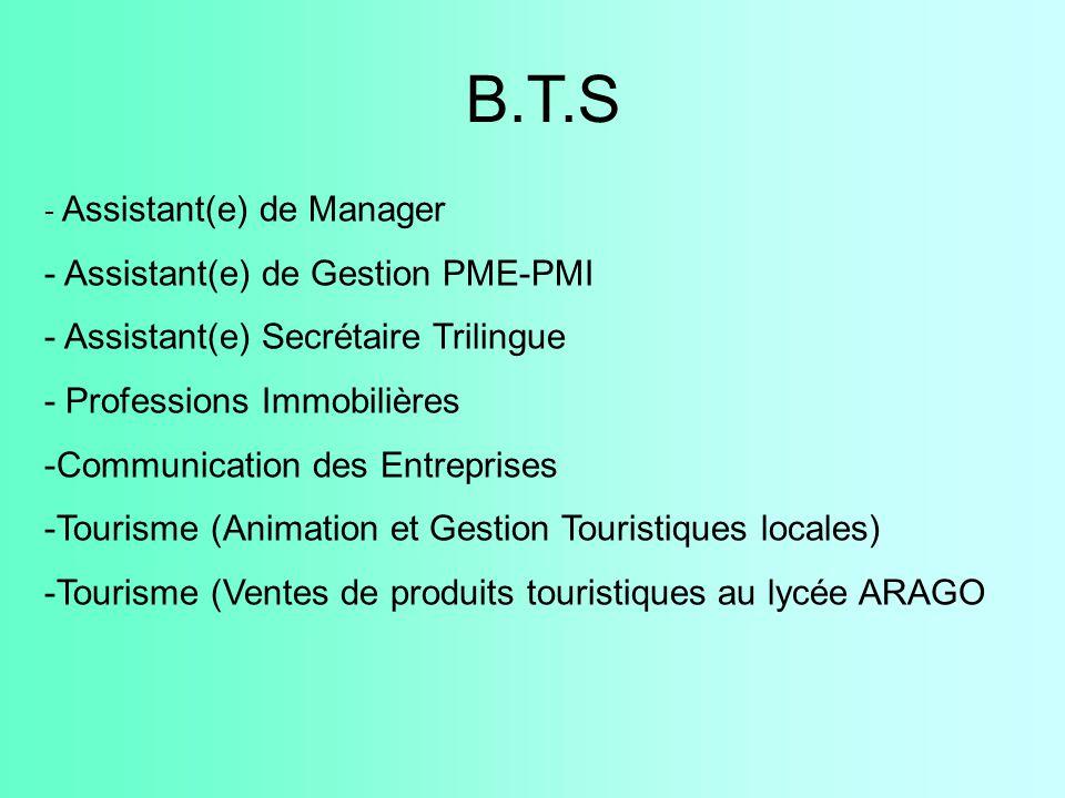 B.T.S - Assistant(e) de Gestion PME-PMI
