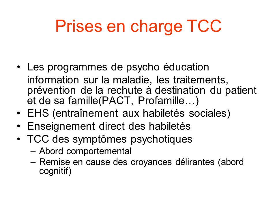 Prises en charge TCC Les programmes de psycho éducation