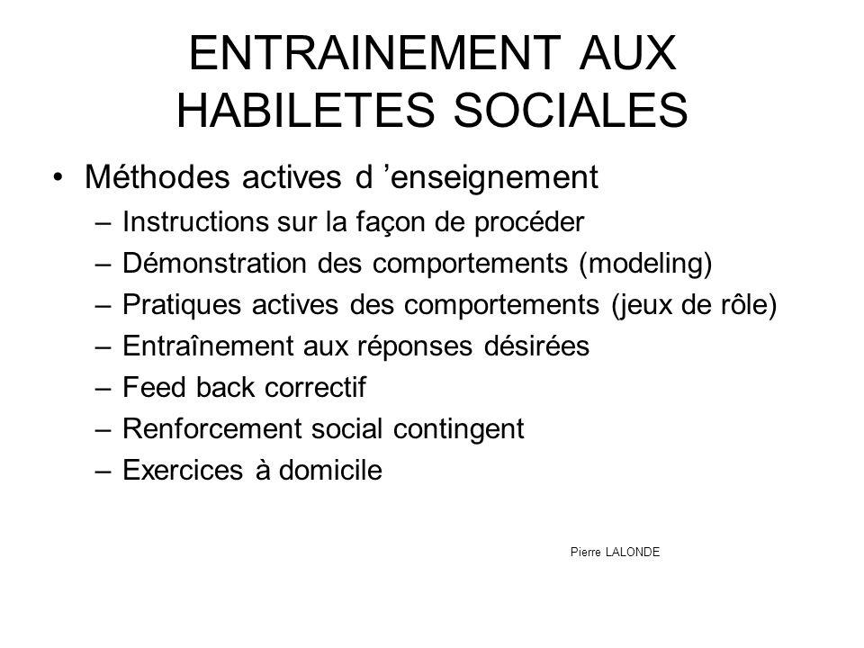 ENTRAINEMENT AUX HABILETES SOCIALES