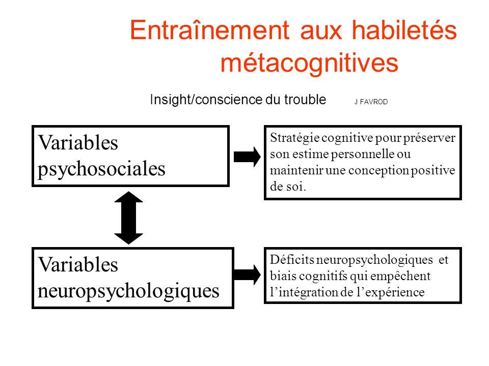 Entraînement aux habiletés. métacognitives