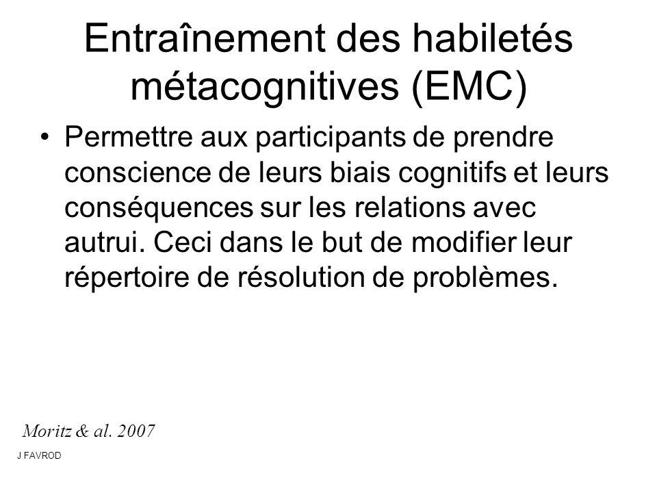 Entraînement des habiletés métacognitives (EMC)